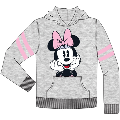 Picture of Disney Youth Sport Minnie Pullover Hoodie Gray Pink