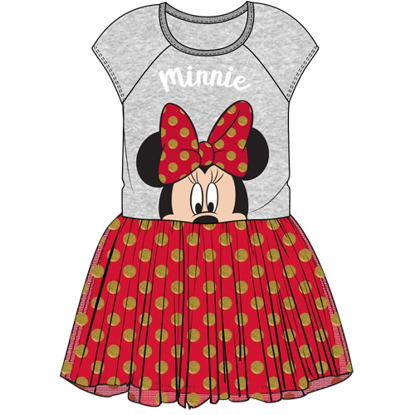 Picture of Disney Youth Girls Big Bow Minnie Tutu Dress Gray Red