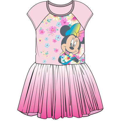 Picture of Disney Youth Girls Minnie with Florals Tutu Dress Light Pink