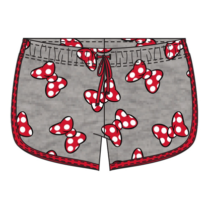 Picture of Disney Youth Girls So Minnie Bows Shorts Gray Red