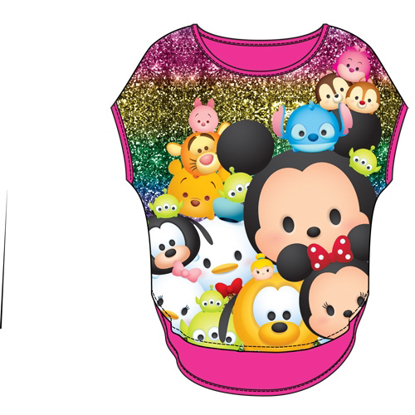 Picture of Disney Youth Girls Glitter Sublimated Top Tsum Tsum Glitter Pink