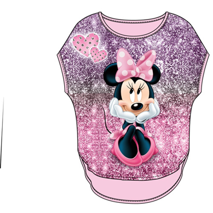 Picture of Disney Youth Girls Glitter Sublimated Top Minnie Sparkles Pink