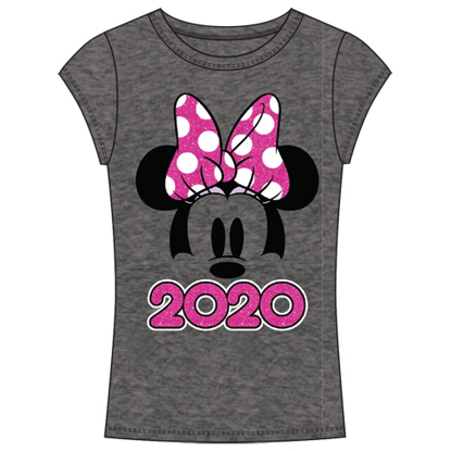 Picture of Disney Youth 2020 Minnie Show Fashion Top Dark Gray Pink