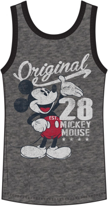 Picture of Disney Men's Tank Mickey Mouse Original 28 Gray Black