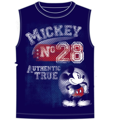 Picture of Disney Men's Tank Shooter Mickey Mouse Authentic Navy