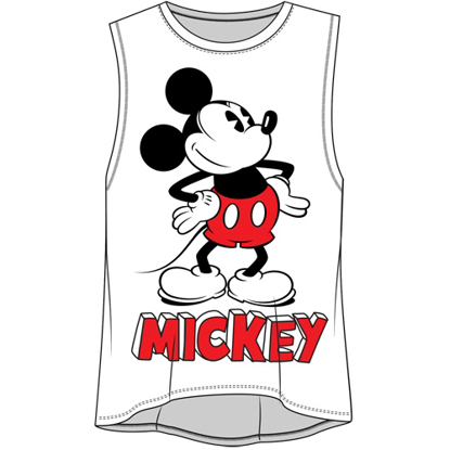 Picture of Disney Junior Fashion Tank Top Mickey Mouse Name White
