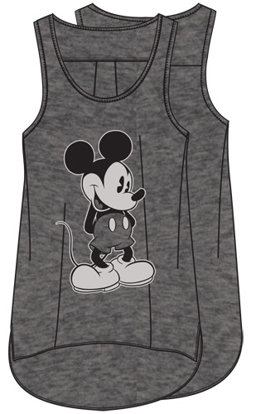 Picture of Disney Plus Size Tank Just Mickey Gray