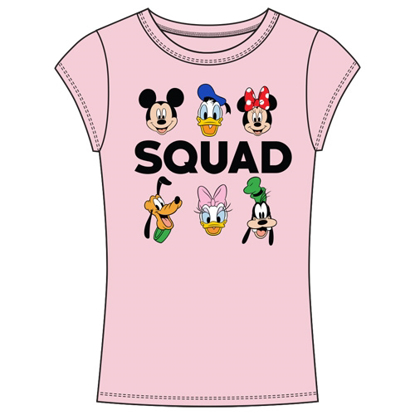 Picture of Disney Junior Fashion Top My Squad Mickey Minnie Donald Duck Pluto Daisy Goofy Light Pink