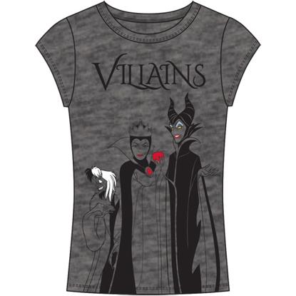 Picture of Disney Junior Fashion Top 3 Villains Cruella Evil Queen Maleficent Charcoal Gray
