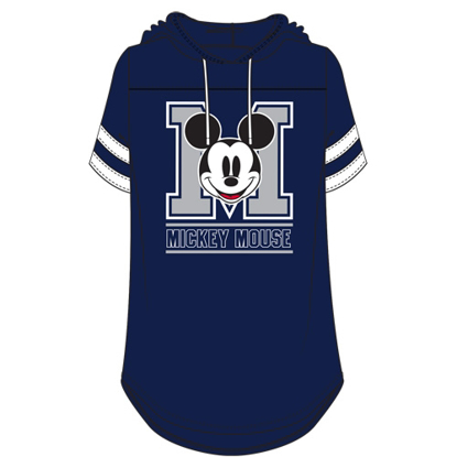 Picture of Disney Junior Fashion Hooded Football Tee Mickey Mouse Club Navy White