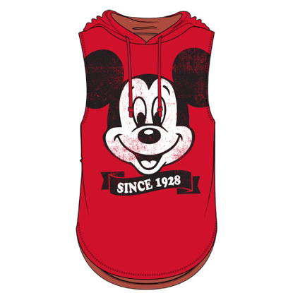 Picture of Disney Junior Fashion Hooded Tank Top Big Face Mickey Mouse Since 1928 Red