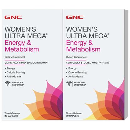 Picture of GNC Women's Ultra Mega Energy & Metabolism Multivitamin 180 ct