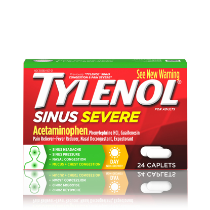 Picture of Tylenol Sinus Severe Non-Drowsy Day Relief Caplets 24 ct