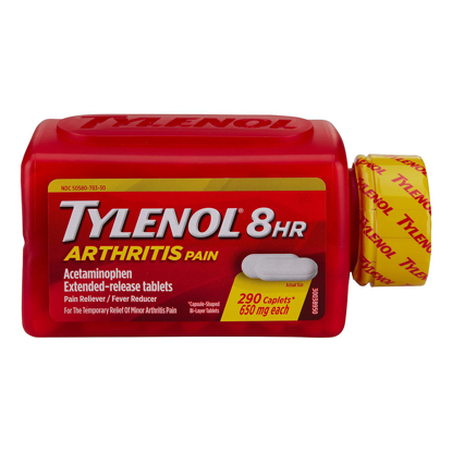 Picture of Tylenol 8 HR Arthritis Pain Caplets 290 Count