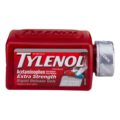 Picture of Tylenol Extra Strength Rapid Release Gels 290 ct