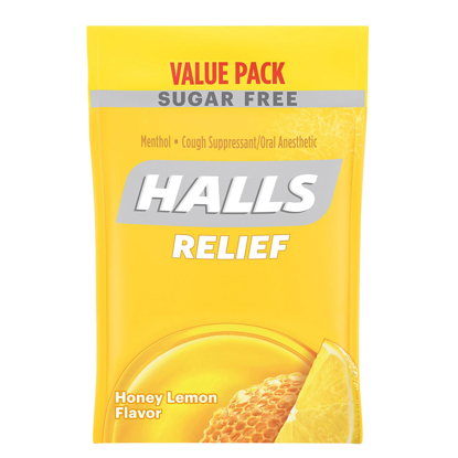 Picture of Halls Sugar Free Cough Drops Honey Lemon 180 ct