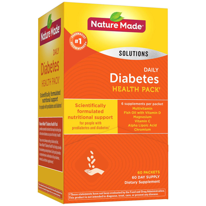 Picture of Nature Made Daily Diabetes Health Pack Dietary Supplement 60 pk