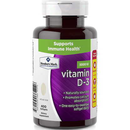 Picture of Member's Mark Vitamin D-3 5000 IU Dietary Supplement 400 ct
