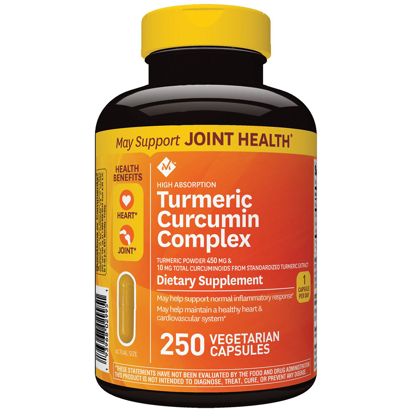 Picture of Member's Mark High Absorption Turmeric Curcumin Complex Vegetarian Capsules 250 ct