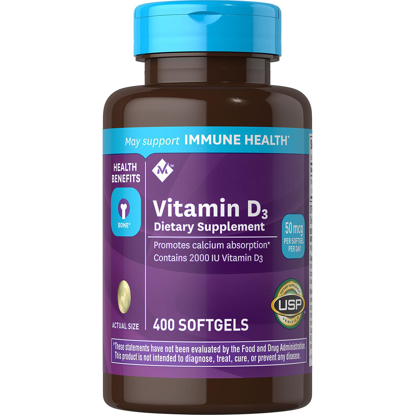 Picture of Members Mark Vitamin D-3 Dietary Supplement 2000 IU 400 ct