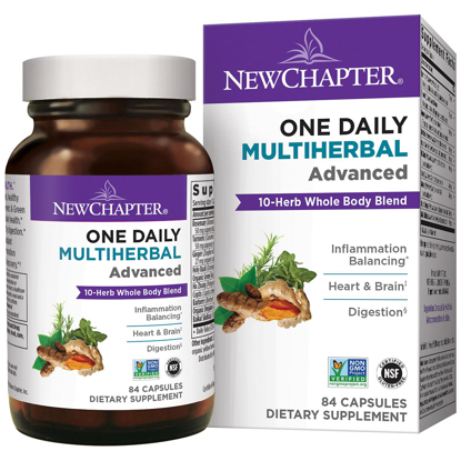Picture of New Chapter One Daily Multi herbal Advanced 10 Herb Blend with Turmeric & Ginger 84 ct