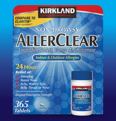 Picture of Kirkland Signature NonDrowsy AllerClear Antihistamine 10 mg 365 Tablets