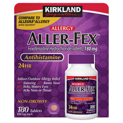 Picture of Kirkland Signature Aller Fex Antihistamine 180 mg 180 Tablets