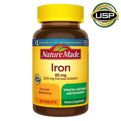Picture of Nature Made Iron 65 mg 365 Tablets