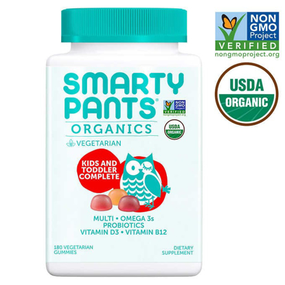 Picture of Smarty Pants USDA Organic Kids & Toddler Complete Multivitamin 180 Vegetarian Gummies
