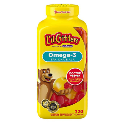 Picture of Lil Critters Omega 3 DHA 220 Gummies