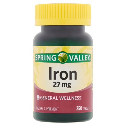 Picture of Spring Valley Iron 27 mg 250 Tablets