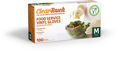 Picture of ClearTouch - Food Service Vinyl Gloves - 100 Count Medium