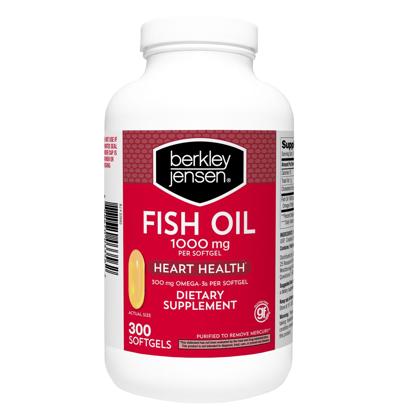 Picture of Berkley Jensen Fish Oil 1000 Mg 300 ct soft gels