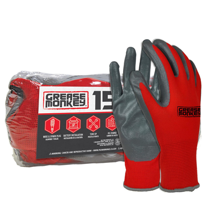 Picture of Grease Monkey Nitrile Coated Work Gloves  15 Pairs One Size