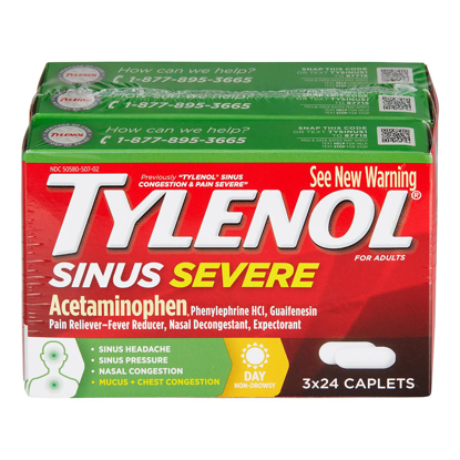 Picture of Tylenol Sinus Severe 24 ct 3 pk