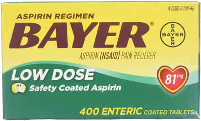 Picture of Bayer Aspirin Regimen Low Dose 81 mg 400 Enteric Coated Tablets