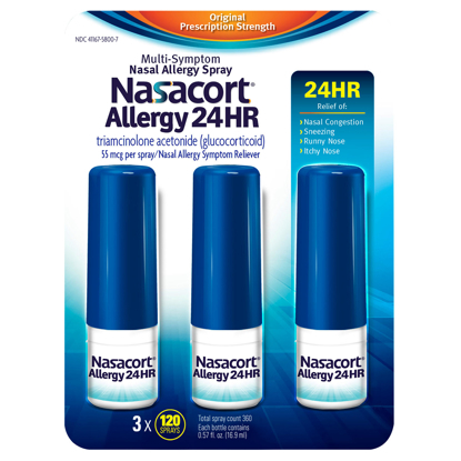 Picture of Nasacort Allergy 24hr Non-Drip Nasal Spray 120 sprays 3 pk