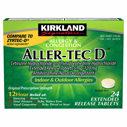 Picture of Kirkland Signature AllerTec D 12 Hour 24 Extended Release Tablets