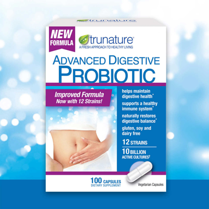 Picture of TruNature Digestive Probiotic Capsules 100 Count