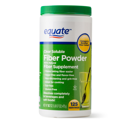 Picture of Equate Sugar Free Fiber Supplement Powder 125 Ct 16.7 Oz