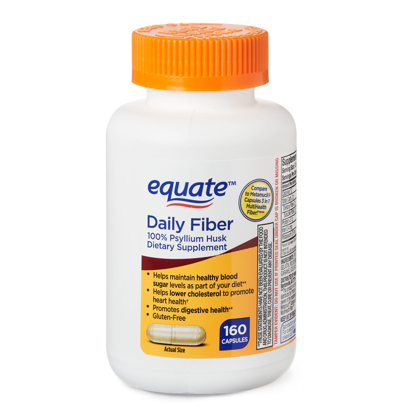 Picture of Equate Daily Fiber Capsules 160 Count