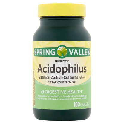 Picture of Spring Valley Probiotic Acidophilus Caplets 100 Count