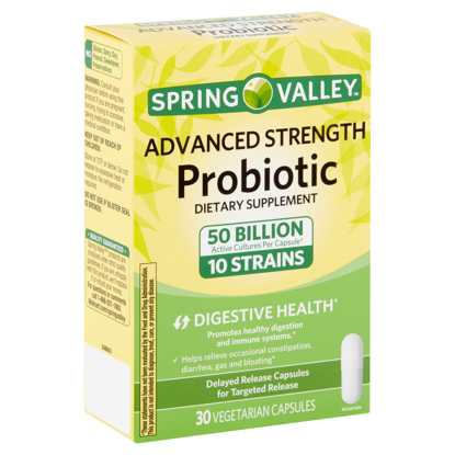Picture of Spring Valley Advanced-Strength Probiotic Vegetarian Capsules 30 Count