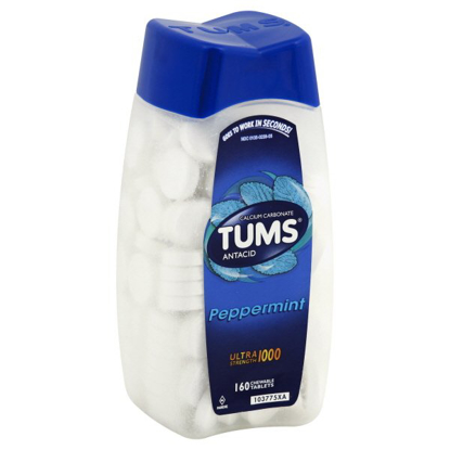 Picture of TUMS Antacid Chewable Tablets Ultra Strength for Heartburn Relief Peppermint 160 count
