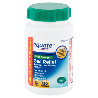 Picture of Equate Extra Strength Gas Relief Soft gels Value Size 125 mg 150 count