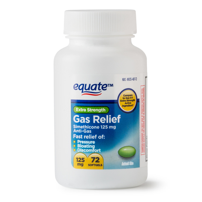 Picture of Equate Extra Strength Gas Relief Simethicone Softgels 125 mg 72 Ct