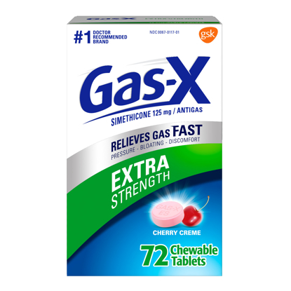 Picture of Gas-X Extra Strength Cherry Chewable Tablet for Fast Gas Relief 72 count