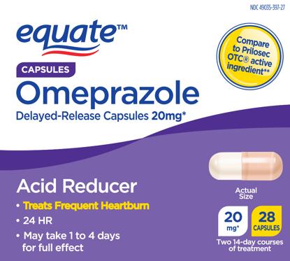 Picture of Equate Acid Reducer Omeprazole Magnesium Capsules 20.6 mg 28 Ct