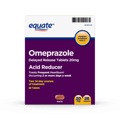 Picture of Equate Omeprazole Delayed Release Tablets 20 mg 28 Count