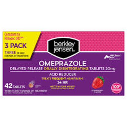Picture of Berkley Jensen 20mg Omeprazole Orally Disintegrating Acid Reducer Tablets 42 ct